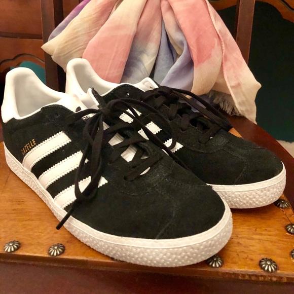 Never Worn Black Suede Adidas Gazelle Sneakers